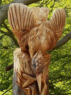tree carvings | ... carving tree art creative tree carving face carving in trees romantic