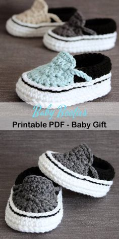 Make a Cute Pair of Baby Booties - baby shoes crochet patterns -baby booties – baby gift – crochet pattern pdf – amorecraftylife - Crochet Baby Sandals, Booties Crochet, Crochet Baby Clothes, Crochet Shoes, Crochet Slippers, Crochet Baby Stuff, Knit Baby Shoes, Baby Booties Free Pattern, Baby Shoes Pattern