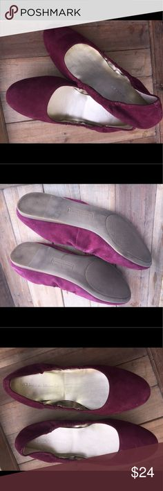 Audrey Brooke flats suede and cute Dark purple suede Flats perfect to go with any fall or spring outfit comfortable and cute. I've only worn twice in excellent condition. Audrey Brooke Shoes Flats & Loafers