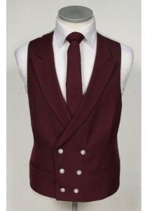 Ascot double breasted waistcoat in maroon burgundy. An ideal wedding waistcoat for the vintage Groom #vintagewedding #groom #waistcoat #doublebreasted #wedding
