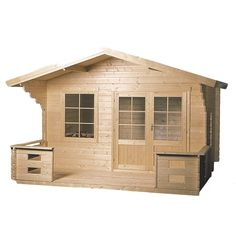 Lillevilla Skandia Kit Cabin | Overstock™ Shopping - Big Discounts on Outdoor Storage  $6,000 for a guest house