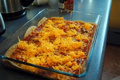 Bryan's Step-Father's Red Chile and Enchilada Casserole