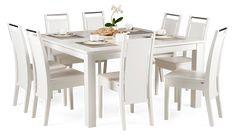 Massiivikoivusta valmistettu METRO-ruokapöytä. Värivaihtoehtoina valkoinen, luonnon koivu, pyökki, pähkinä, tummapähkinä...