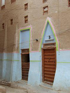 Shibam doors - Shibam, Hadramawt