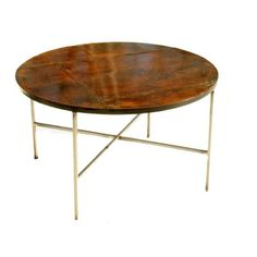 Vintage Patinated Copper Coffee Table @flea_pop