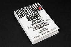Studio Mut's Kunsthalle Bozen flyers are anti-establishment as all flipping heck
