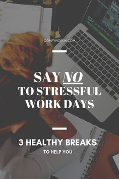 If you feel stressed, overwhelmed and often end your working day completely drained, chances are that you are not managing your breaks correctly. Taking small breaks between 2 tasks can help you take your mind off your work during a stressful day. This post will provide you with 3 ways to improve your overall working rhythm. Giving work from home tips, activities to do at home to relief your stress and ways to switch off from work for few minutes to re energize your body and mind. wfhtips… Things To Do At Home, Work From Home Tips, You Can Do, Are You Happy, Focus At Work, Good Notes, Time Management Tips, Work Life Balance, Activities To Do
