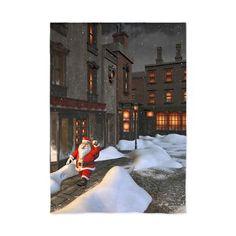 "new at @CafePress : #Santa is coming 4 84"" #Curtains Santa Claus walking through a beautiful old #city. A cute #christmas scene!  $68.99"