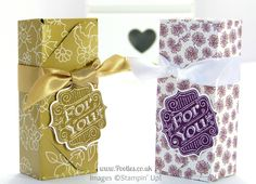 Stampin 'Up!  Royaume-Uni démonstrateur Pootles - 6x6 enveloppe punch Tutorial Box Office