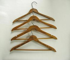Vintage wood advertising hangersyour choice by PassedBy on Etsy