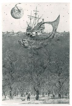 iamjapanese:  Konstantin Kalinovich(Russian/Ukrainian, b.1959)  Flight to Nowhere   2005  Etching, mezzotint