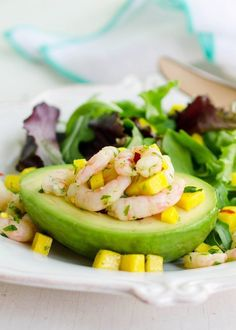 Avocado Stuffed with Spicy Shrimp
