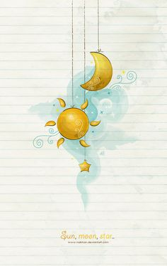 sun, moon, star by NaBHaN.deviantart.com on @deviantART