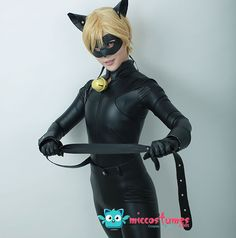 Miraculous Adrien Agreste Cat Noir Cosplay by miccostumes