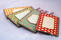 Recipe double slider cards.