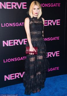 She's a stunner: Emma Roberts did not disappoint at the New York City premiere of her film...