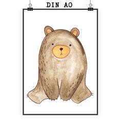 Poster DIN A0 Bär sitzend aus Papier 160 Gramm  weiß - Das Original von Mr. & Mrs. Panda.  Jedes wunderschöne Motiv auf unseren Postern aus dem Hause Mr. & Mrs. Panda wird mit viel Liebe von Mrs. Panda handgezeichnet und entworfen.  Unsere Poster werden mit sehr hochwertigen Tinten gedruckt und sind 40 Jahre UV-Lichtbeständig und auch für Kinderzimmer absolut unbedenklich. Dein Poster wird sicher verpackt per Post geliefert.    Über unser Motiv Bär sitzend  Ab heute werde ich jeden Tag ein…