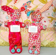 Bunnies Claire and Cloe by Holland Fabric House, via Flickr
