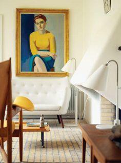 Danish modern interior - Finn Juhl's home