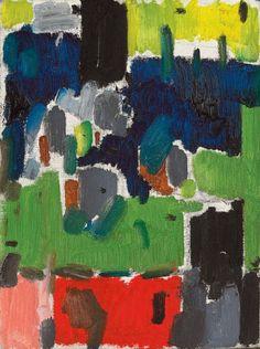 Patrick Heron, Garden Leaves 1955 on ArtStack Abstract Landscape, Abstract Art, Abstract Shapes, Abstract Paintings, Patrick Heron, Art Terms, Action Painting, Garden Painting, Abstract Expressionism Art