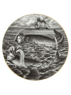 Fornasetti Mermaid Print Plate - L'eclaireur :: Farfetch
