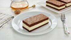 Kinder milk-slices (CC Eng Sub) Something Sweet, Tiramisu, Food And Drink, Milk, Cakes, Cooking, Ethnic Recipes, Desserts, Sweet Treats