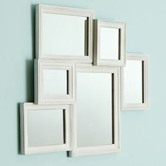 I love the White Vintage Collage Framed Mirror on pbteen.com