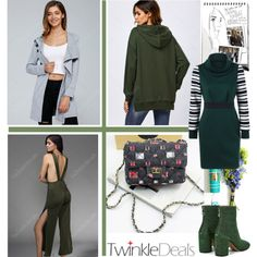 green and gray Winter Essentials, Hoodies, Sweatshirts, Green And Grey, Coat, Polyvore, Fashion, Moda, Sewing Coat