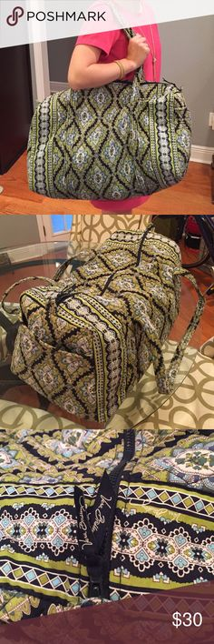 Vera Bradley Large Duffel Vera Bradley large duffel. Used but in great condition. No stains or tears. Vera Bradley Bags Travel Bags