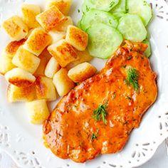 Kurczak w kremowym sosie pomidorowo-koperkowym | Blog | Kwestia Smaku