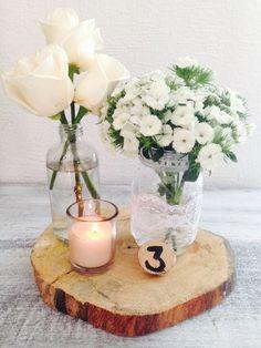CBV201 Weddings Riviera Maya  Vintage centerpieces white / centro de mesa blanco