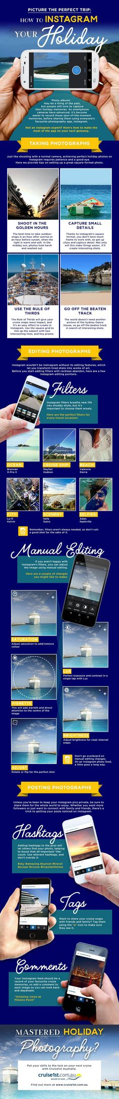 How To Instagram Your Holiday #Infographic #Instagram #SocialMedia
