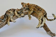Needle felted leopards by Daria Lvovsky.