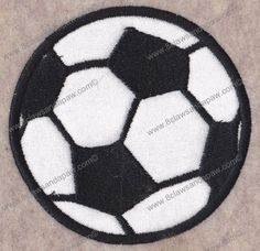 Applique Soccer Ball Embroidery Design-Multiple Sizes on Etsy, $1.95