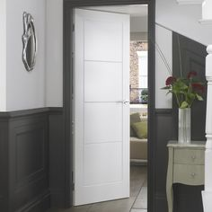 The molded panel doors incorporate FSC accredited materials offering excellent appearance and performance. The range has third party environmental accreditation supplied with chain of custody.