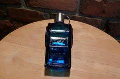 Avon blue glass whistle bottle, whistle bottle, blue glass whistle, coach's gift, Whistle, 1970 prop by Morethebuckles on Etsy