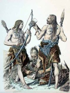 Leather and fur clothing worn by Germanic people in the Stone Age.