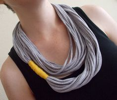 :) T-shirt necklace