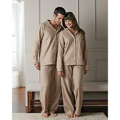 Indulge your loved ones (and yourself!) with our ultra-luxurious sateen flannel pajamas for both men and women.
