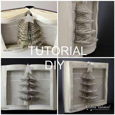 Malena Valcárcel original Art: DIY - Tutorial to transform a book into a Christmas Tree Book Sculpture