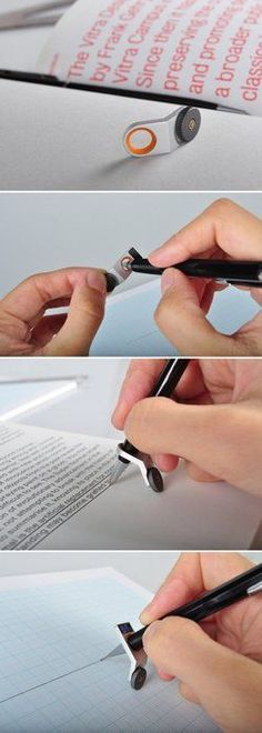 """AWESOME….SO MANY USES. scodal: """" The simplest tool to help you draw a straight line. I am blown away. I would really like to have this just because. illiyana: """" onehappy-family: """" aishahrosely: """"..."""