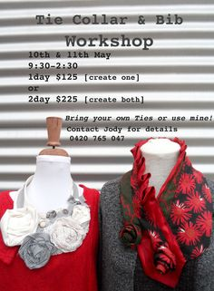 Sew Outside the Lines™ with Jody Pearl: Tie Collar Inspirations - no tutorial