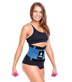 Tecnomed Best Adjustable Waist Cincher Workout Belt Burns Fat Faster Plus Instantly Slims Waist and Moves with You to Provide Critical Lower Back and Core Support for Lifting and Workouts BlueM >>> Check this awesome product by going to the link at the image.