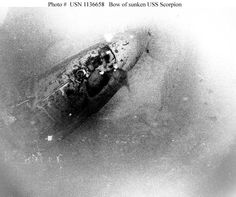 USS Scorpion (SSN-589), a U.S. nuclear submarine, was declared lost on June 5, 1968, with 99 crew members.  Later information confirmed that the Scorpion imploded due to 2 low level explosions caused by the battery exploding. The hull collapsed due to a loss of depth control at a depth of 2015 feet.