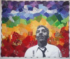Bayard Rustin Mixed Media Art Quilt