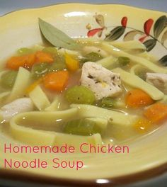 Crock Pot Recipes: Homemade Chicken Noodle Soup