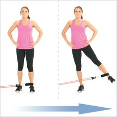 Standing leg Abduction With Clip Resistance Bands