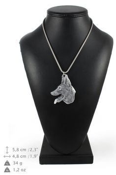NEW Malinois dog necklace silver chain 925 by ArtDogshopcenter