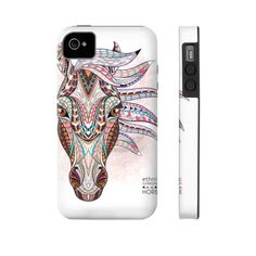 Equestrian Accessories - Ethnic Horse Head - iPhone and Galaxy Cases