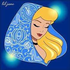 Cinderella (Drawing by Lil_Jane_Art Disney Pixar, Disney Nerd, Arte Disney, Disney Fan Art, Disney Animation, Disney And Dreamworks, Disney Cartoons, Disney Characters, Disney Cruise
